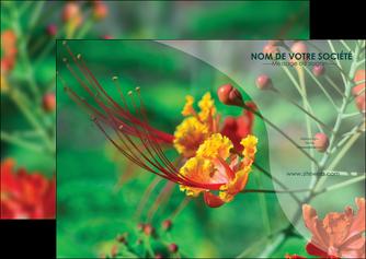 impression flyers fleuriste et jardinage nature colore couleurs MLGI34912