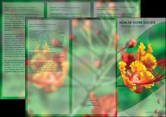 creer modele en ligne depliant 3 volets  6 pages  fleuriste et jardinage nature colore couleurs MLGI34914