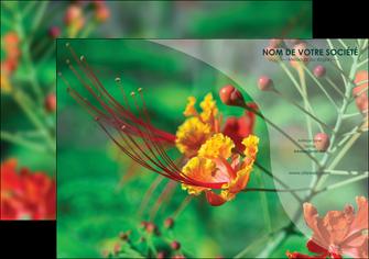 modele en ligne affiche fleuriste et jardinage nature colore couleurs MLGI34916