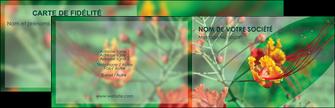 realiser carte de visite fleuriste et jardinage nature colore couleurs MLGI34918