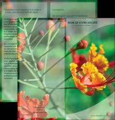 personnaliser modele de depliant 2 volets  4 pages  fleuriste et jardinage nature colore couleurs MLGI34920