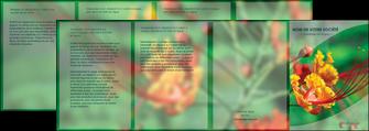 creer modele en ligne depliant 4 volets  8 pages  fleuriste et jardinage nature colore couleurs MLGI34926