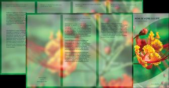personnaliser maquette depliant 4 volets  8 pages  fleuriste et jardinage nature colore couleurs MLGI34928
