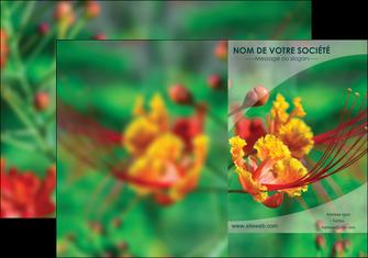 modele pochette a rabat fleuriste et jardinage nature colore couleurs MLGI34934