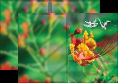 imprimer depliant 2 volets  4 pages  nature colore couleur MLGI34946