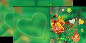 personnaliser maquette depliant 2 volets  4 pages  fleur naissance nature MLIG34948
