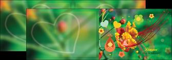 impression depliant 2 volets  4 pages  fleur naissance nature MLIG34950