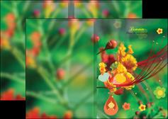 modele en ligne depliant 2 volets  4 pages  fleur naissance nature MLIG34956