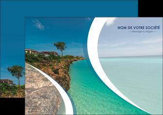 personnaliser maquette affiche sejours mer plage bord de mer MLGI35032