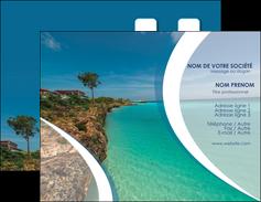 realiser carte de visite sejours mer plage bord de mer MLGI35036