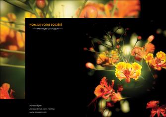 creer modele en ligne flyers fleuriste et jardinage fleurs printemps jardin MLIG35134