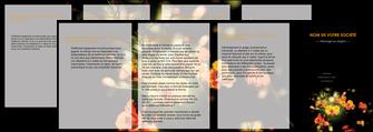 maquette en ligne a personnaliser depliant 4 volets  8 pages  fleuriste et jardinage fleurs printemps jardin MLIG35136