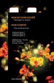 personnaliser modele de carte de visite fleuriste et jardinage fleurs printemps jardin MLGI35137