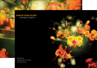 personnaliser maquette flyers fleuriste et jardinage fleurs printemps jardin MLIG35138