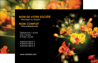 personnaliser modele de carte de visite fleuriste et jardinage fleurs printemps jardin MLIG35140