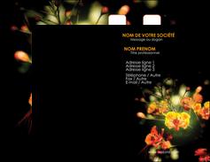exemple carte de visite fleuriste et jardinage fleurs printemps jardin MLIG35146