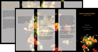 exemple depliant 4 volets  8 pages  fleuriste et jardinage fleurs printemps jardin MLIG35148