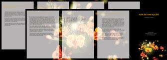 exemple depliant 4 volets  8 pages  fleuriste et jardinage fleurs printemps jardin MLIG35150