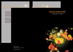 faire modele a imprimer depliant 2 volets  4 pages  fleuriste et jardinage fleurs printemps jardin MLIG35152