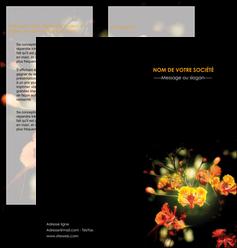 personnaliser modele de depliant 2 volets  4 pages  fleuriste et jardinage fleurs printemps jardin MLIG35154