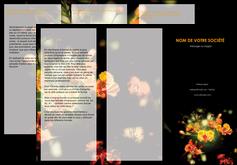 personnaliser maquette depliant 3 volets  6 pages  fleuriste et jardinage fleurs printemps jardin MLIG35158