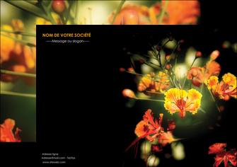 personnaliser modele de affiche fleuriste et jardinage fleurs printemps jardin MLIG35160