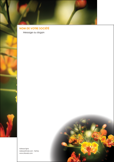personnaliser modele de tete de lettre fleuriste et jardinage fleurs printemps jardin MLIG35162