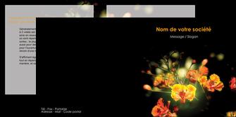 exemple depliant 2 volets  4 pages  fleuriste et jardinage fleurs printemps jardin MLIG35164