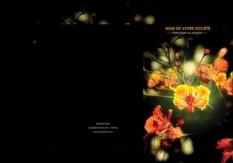 imprimer pochette a rabat fleuriste et jardinage fleurs printemps jardin MLIG35168