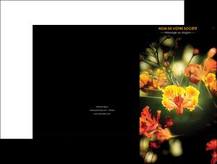 creer modele en ligne pochette a rabat fleuriste et jardinage fleurs printemps jardin MLIG35170