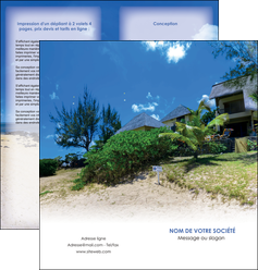 creation graphique en ligne depliant 2 volets  4 pages  sejours agence immobilier ile maurice villa MIS35186