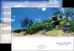 personnaliser modele de depliant 3 volets  6 pages  sejours agence immobilier ile maurice villa MIS35188