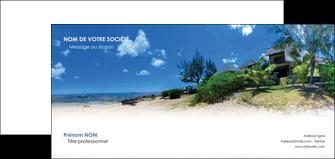 exemple carte de correspondance sejours agence immobilier ile maurice villa MIS35198