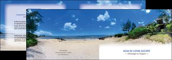 imprimerie depliant 2 volets  4 pages  sejours agence immobilier ile maurice villa MIS35204