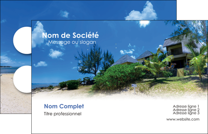 imprimer carte de visite sejours agence immobilier ile maurice villa MIS35210