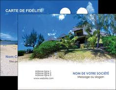 exemple carte de visite sejours agence immobilier ile maurice villa MIS35212