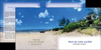 creer modele en ligne depliant 2 volets  4 pages  sejours agence immobilier ile maurice villa MIS35218