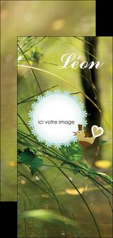 cree flyers faire part de naissance vert nature MLIG35350