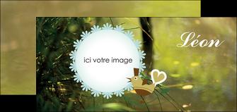 creation graphique en ligne flyers faire part de naissance vert nature MLIG35352