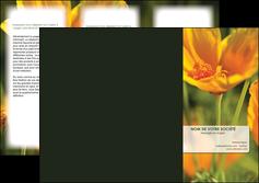 cree depliant 3 volets  6 pages  fleuriste et jardinage fleurs nature printemps MLGI35962