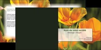 modele en ligne depliant 2 volets  4 pages  fleuriste et jardinage fleurs nature printemps MLGI35964