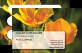 personnaliser maquette carte de visite fleuriste et jardinage fleurs nature printemps MLGI35968