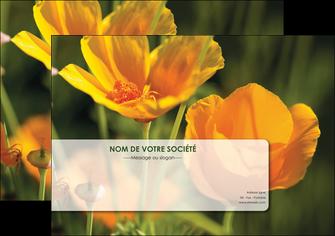 faire affiche fleuriste et jardinage fleurs nature printemps MLGI35970