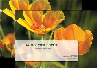 faire modele a imprimer flyers fleuriste et jardinage fleurs nature printemps MLGI35976