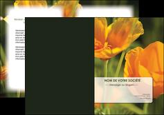 creation graphique en ligne depliant 2 volets  4 pages  fleuriste et jardinage fleurs nature printemps MLGI35980
