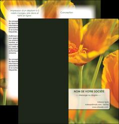 maquette en ligne a personnaliser depliant 2 volets  4 pages  fleuriste et jardinage fleurs nature printemps MLGI35982