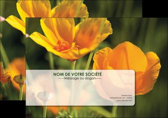 modele en ligne affiche fleuriste et jardinage fleurs nature printemps MLGI35984