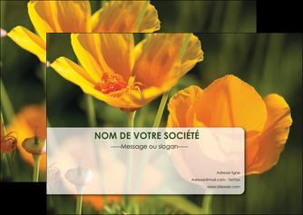 maquette en ligne a personnaliser flyers fleuriste et jardinage fleurs nature printemps MLGI35986