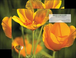 faire modele a imprimer pochette a rabat fleuriste et jardinage fleurs nature printemps MLGI35992