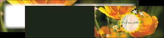 exemple depliant 2 volets  4 pages  fleurs faire part de naissance jaune MLIG36024